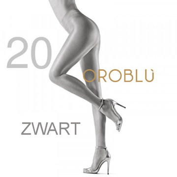Oroblu Maggie 20 den Black Satin Tights