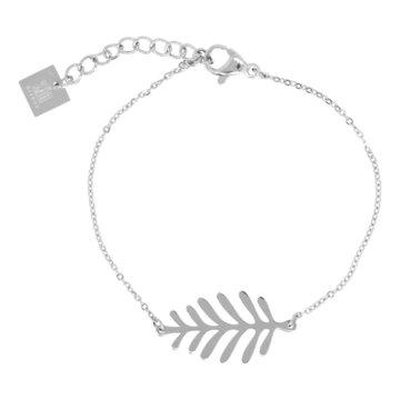 ZAG blad zilver armband