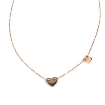 ZAG hartje rose-goud collier