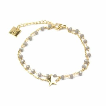 ZAG Ster goud met grijs armband