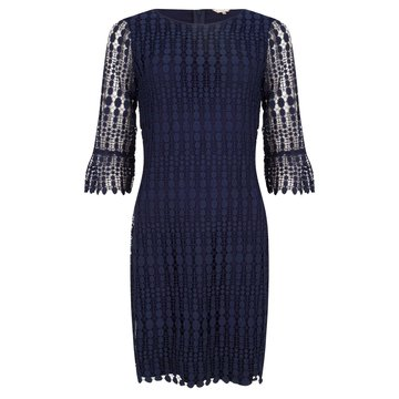 ESQUALO DRESS LACE 3/4 SLEEVE