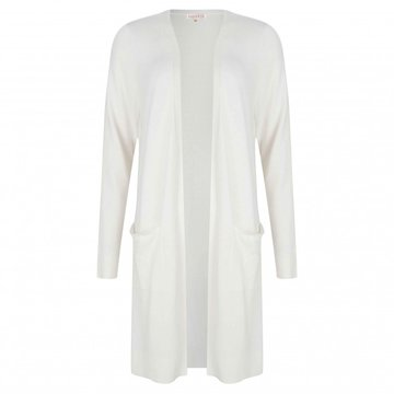 ESQUALO CARDIGAN BASIC LONG OFF WHITE