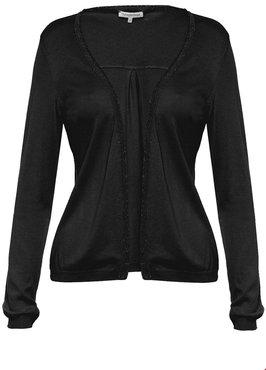 Tramontana Cardigan Basic lurex Black