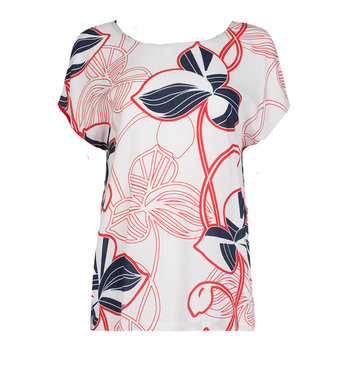 One two luxzuz Karin top met bloemen print.