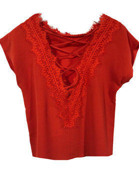 One two luxzuz Darlene blouse rood
