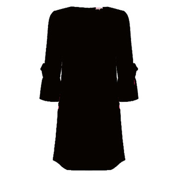 Esqualo Dress fancy cuff zwart