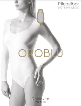 OROBLU Body Round Long Sleeve Zwart