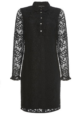 Tramontana Dress Ruffle Polo Collar