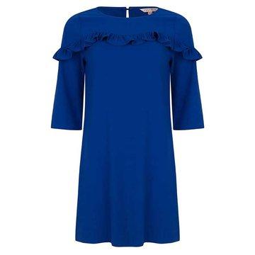 Esqualo Dress ruffle cobalt blue