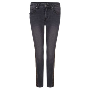 Esqualo Jeans fancy side black