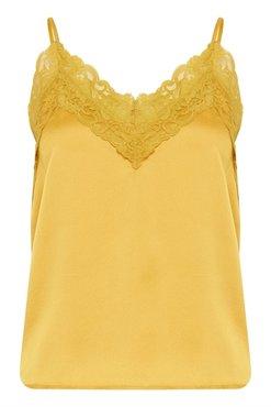 ICHI Like-to2 gele top met kant