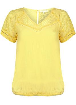 Tramontana Top Lace Contrast geel