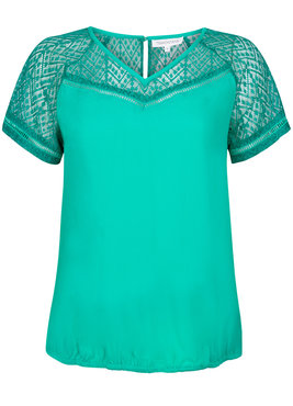 Tramontana Top Lace Contrast groen