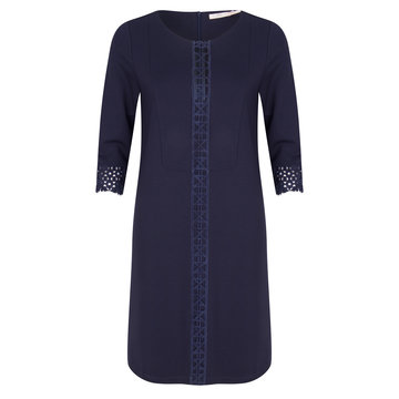 Esqualo Dress punto lace navy