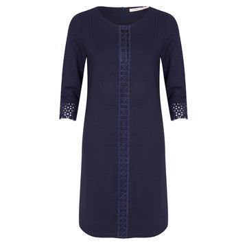 Esqualo Dress punto lace navy