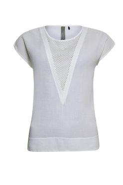 Poools T-shirt V neck ivory