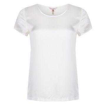 Esqualo silk top wit