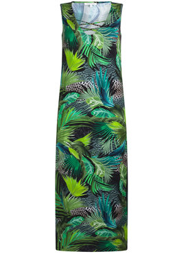Tramontana Dress Jungle print side slit