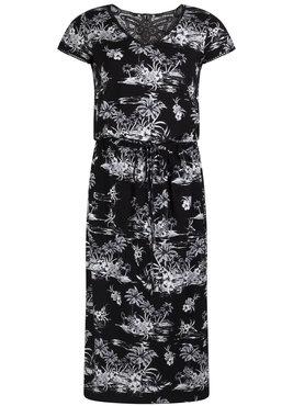 Tramontana Dress BW Print Crochet Back