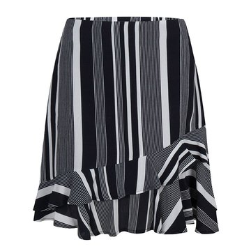 Esqualo Skirt Ruffle Stripe Black