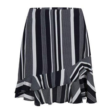 Esqualo Shirt Ruffle Stripe Black