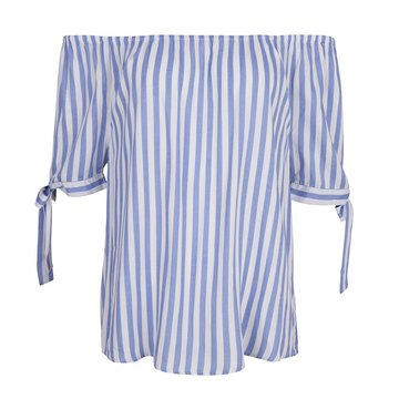 Esqualo Blouse knot stripe