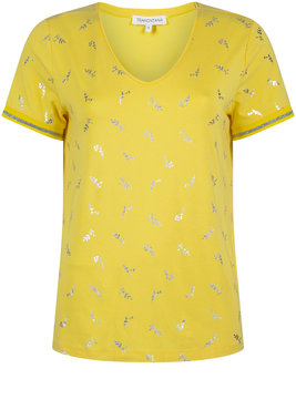 Tramontana T-shirt Flower minimal Bright Yellow D29-91-402