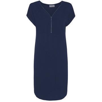 One Two Luxzuz Cassandra Dress Blauw