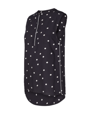 Freequent Adney-to-dots top zwart/wit