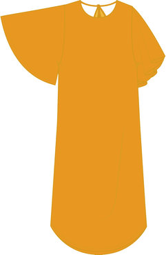 Ichi Ihflora-dr2 gele jurk