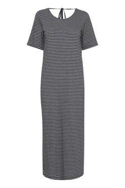 Ichi Ihmoto-dr3 zwart gestreepte jurk