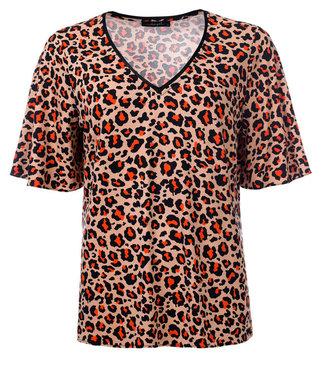 Dayz Wilke - Geprinte animal top with v-neck