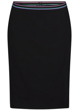 Tramontana Skirt Stiped Elastic Waistband Zwart