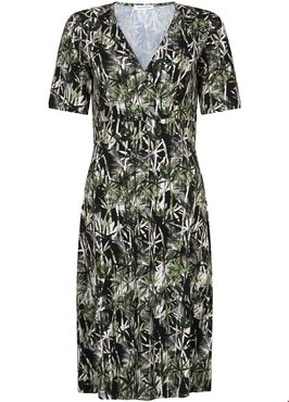 Tramontana Dress SS A-line Palm Print