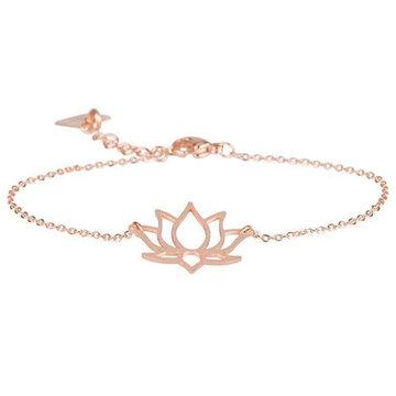 ZAG  rosé gouden armband lotus