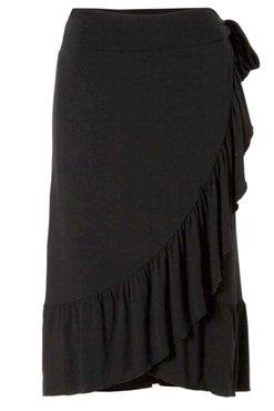 Freequent Dab-Sk overslag rok zwart