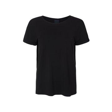 One two luxzuz Karin t-shirt zwart modal kwaliteit