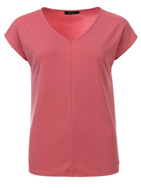 Dayz Aretha Soft Pink cupro v-hals met kapmouw