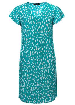 Dayz Yona - Geprinte jurk met v-hals