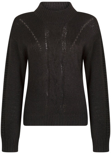 Tramontana Jumper Cable Knit Black