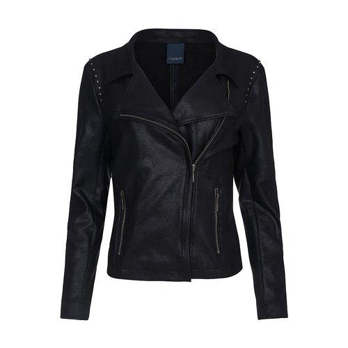 One Two Luxzuz Zwart Majka Coated Suede Jacket