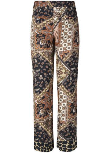Tramontana Trousers Wide Leg Scarf Print