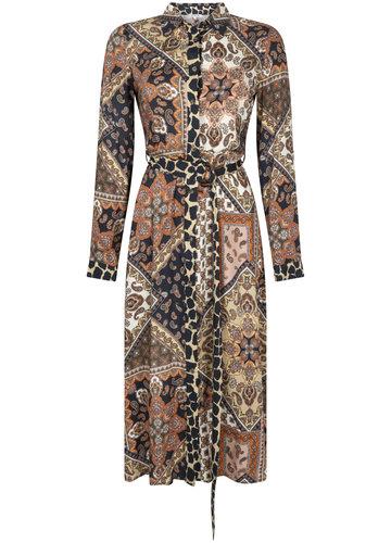 Tramontana Dress Midi Scarf Print