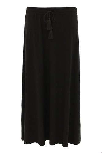 Tramontana Skirt Long Solid Black