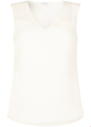 Tramontana Top Crinkle Fabric Mix Off White