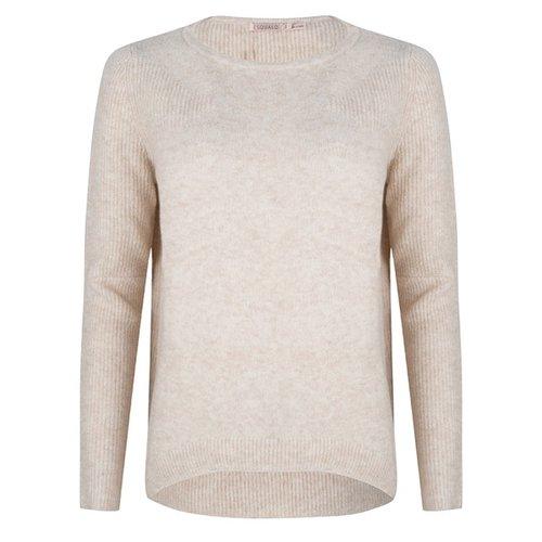 Esqualo Sweater fancy ribbing Beige