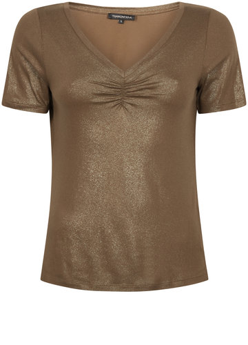Tramontana T-Shirt Lame Jersey Dark Olive