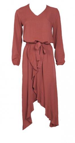 20to Dress Ruffles Mattone
