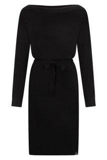Zoso Soraya zwarte gebreide jurk met boothals