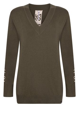 Zoso Penny Army V-hals sweater